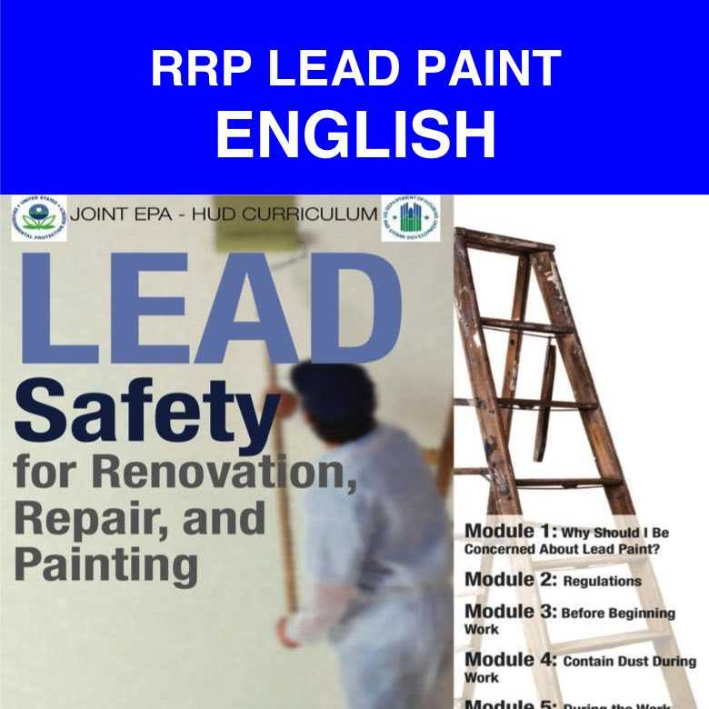 LEAD ENGLISH rrp lead paint portuguese & spanish english