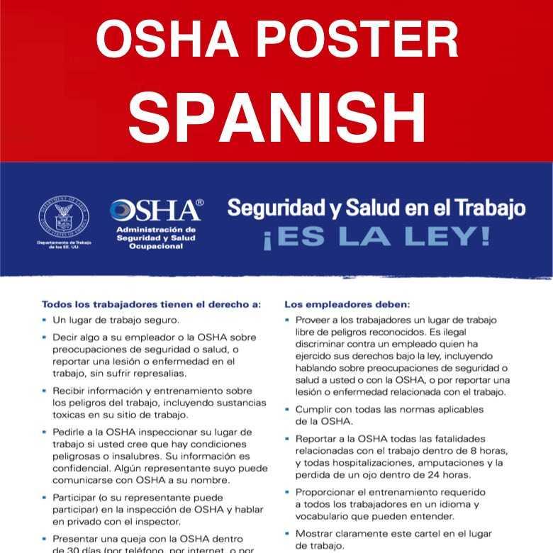 OSHA POSTER SP