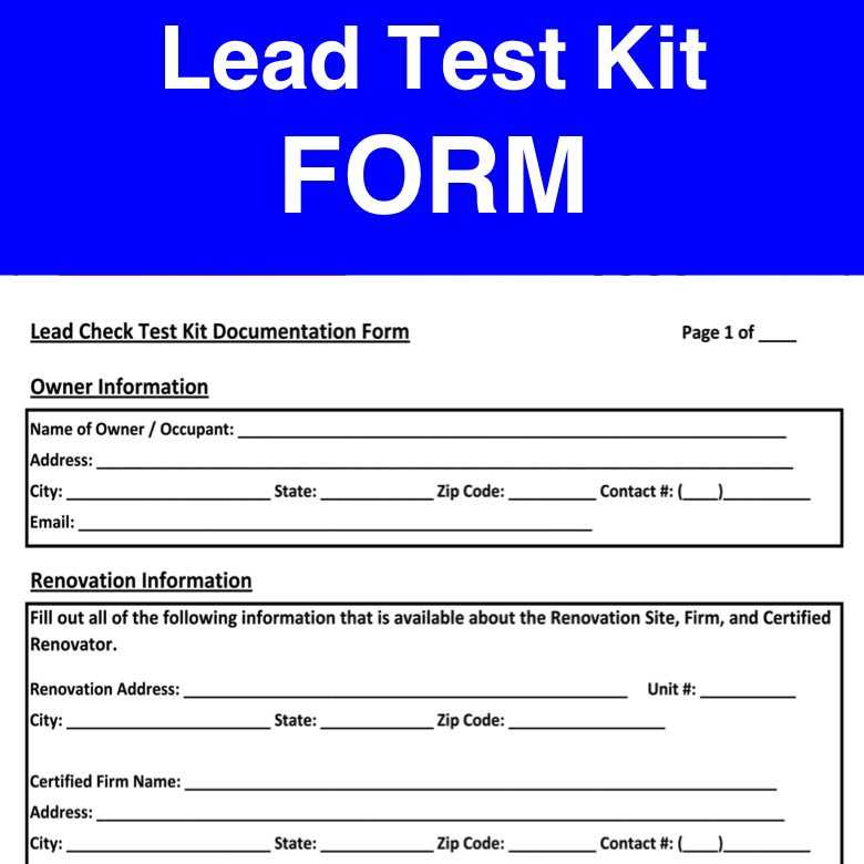 rrp epa lead paint form portuguese, spanish and english