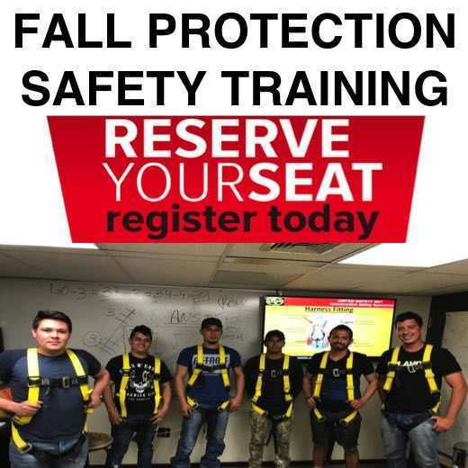 FALL PROTECTION osha training _ portugese spanish english 9787670630 osha boston UNITED SAFETY NET